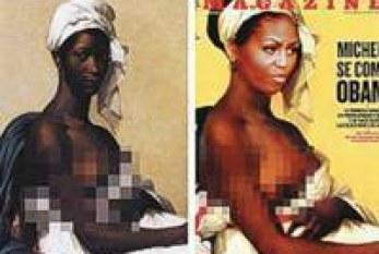Capa com Michelle Obama como escrava africana gera polêmica