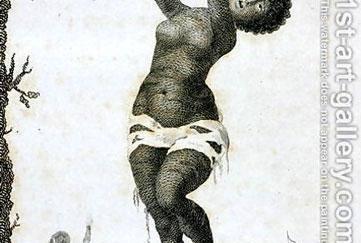 John Gabriel Stedman e um escravo, após a captura da aldeia de Gado Saby