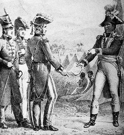 O General Maitland encontra-se com Toussaint para discutir o tratado secreto