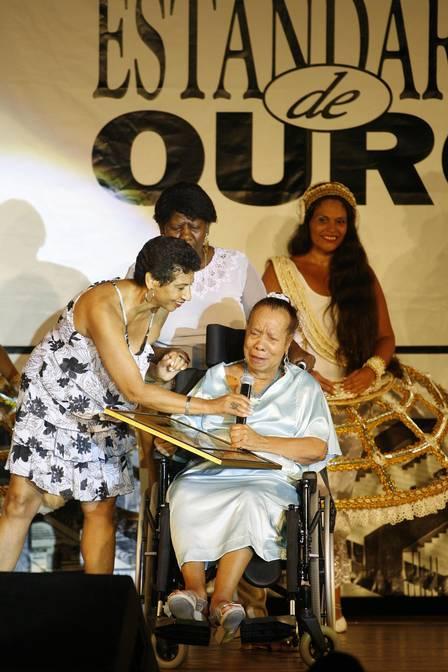 Em 2009, a bailarina foi homenageada pelo Estandarte de Ouro como personalidade do carnaval 06/03/2009 Foto: Fabio Rossi / Agência O Globo