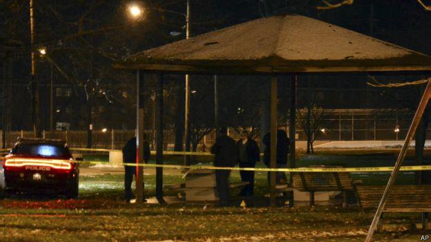 141124073946 crime scene cleveland 624x351 ap Polícia mata menino de 12 anos que brincava com arma de brinquedo nos EUA