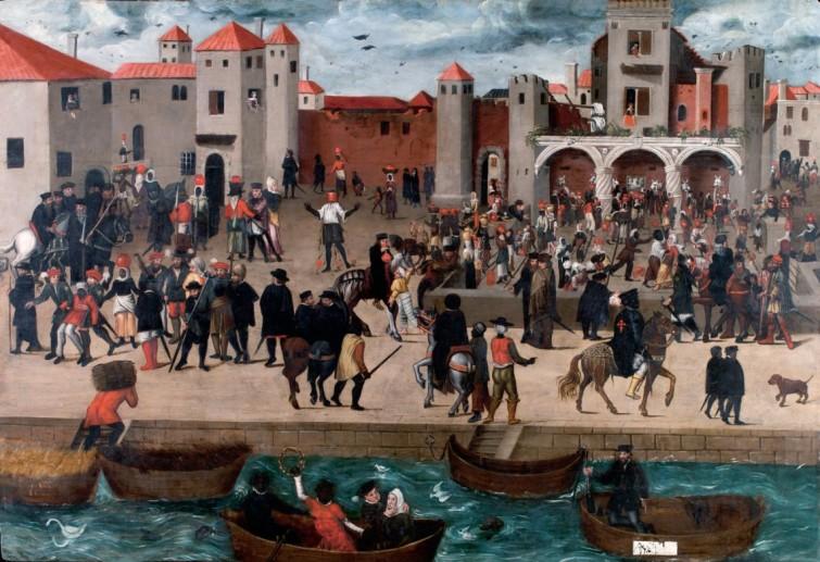 O Chafariz d'El Rey no século XVI, de autor desconhecido