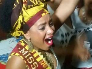 Maria Priscila foi a vencedora do concurso Miss Black Power (Foto: Carla Daniela dos Santos/ Divulgação)