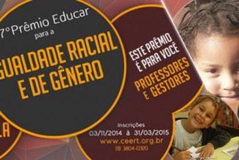 """7º """"Prêmio Educar para a Igualdade Racial e de Gênero"""""""
