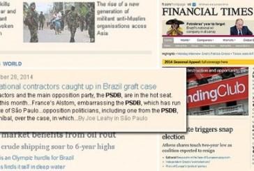 Financial Times: corrupção no Brasil inclui PSDB