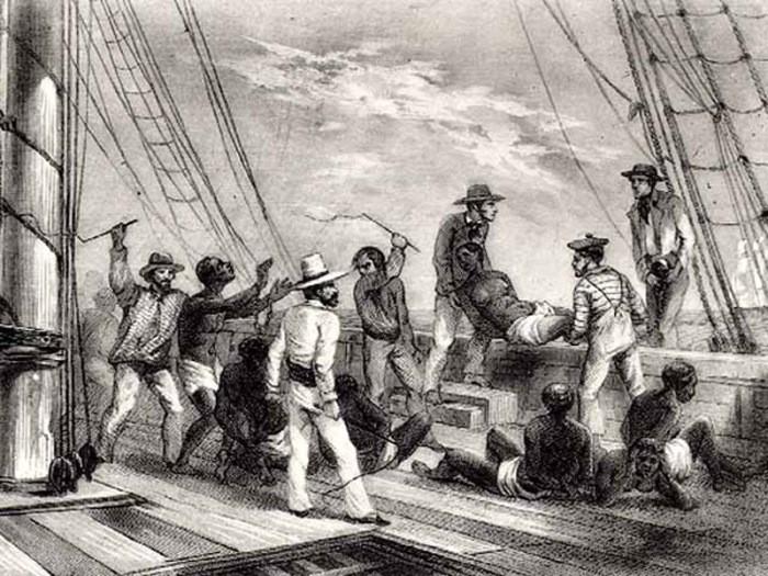 Escravos muito adoentados, por vezes, eram lançados ao mar ainda vivos.
