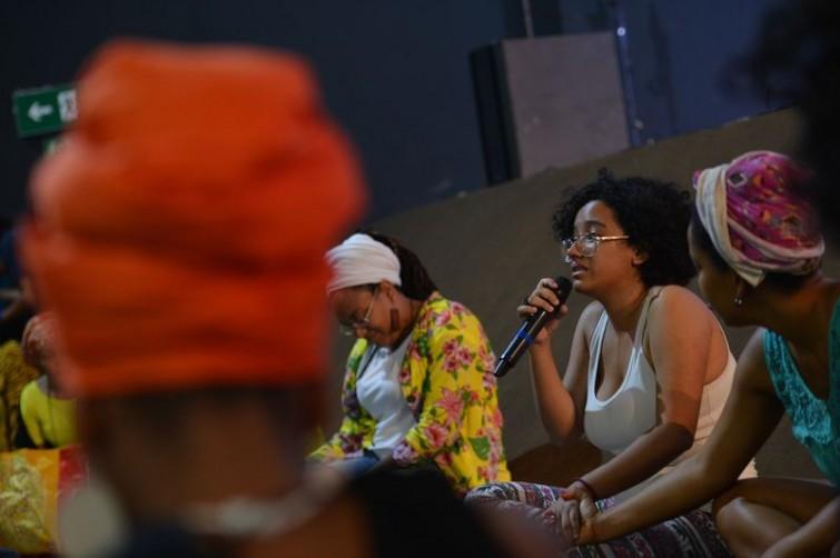 """""""Vou marchar para que as pessoas possam se reconhecer como negras, não queiram se embranquecer"""", disse a estudante Gabriela NascimentoMarcello Casal Jr/Agência Brasil"""