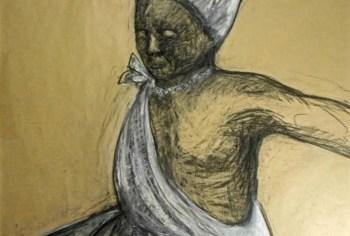 Mucane recebe exposição de desenhos em carvão e papel sobre religiões africanas em Vitória
