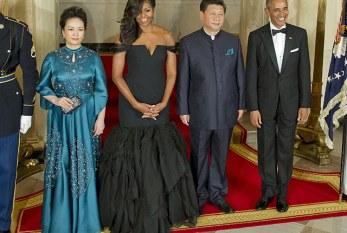 Em jantar de Estado, Michelle Obama rouba a cena