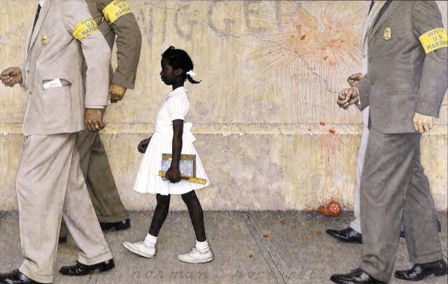 ruby-bridges-norman-rockwell Ruby Bridges, Aos Seis Anos: Discriminada, Maltratada e Agredida