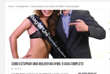 Site oferece guia sobre 'como estuprar uma mulher na UFMG'