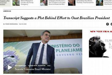 'NYT': Transcrições expõem motivação e complô para derrubar presidente Dilma