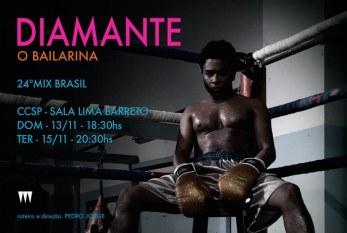 """Sidney Santiago interpreta boxeador gay  em """"Diamante, o Bailarina"""". Filme integra  o 24o Festival MixBrasil"""