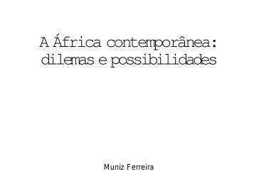 A África contemporânea: dilemas e possibilidades