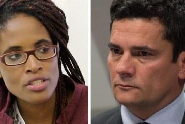 """Djamila Ribeiro enfrenta Moro em debate em Londres: """"Juiz não deveria ter partido"""""""