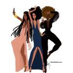 Stephanie Ribeiro: Nicholle Kobi ilustra as mulheres negras no auge de sua elegância