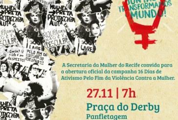 Recife adere campanha global de 16 dias de ativismo pelo fim da violência de gênero