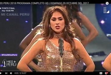 No palco do Miss Peru, candidatas expõem dados sobre violência contra mulheres