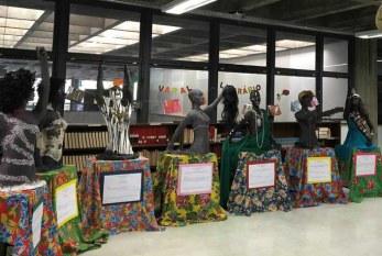 Mulher negra é retratada em exposição de esculturas de alunos do Centro Pedagógico