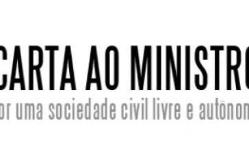 Carta ao ministro da Secretaria de Governo, Carlos Alberto dos Santos Cruz