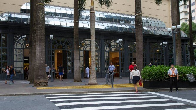 Fachada do Shopping Pátio Higienópolis