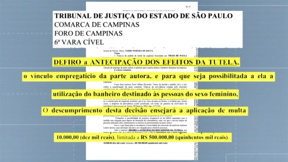 Documento da advogada para a empresa