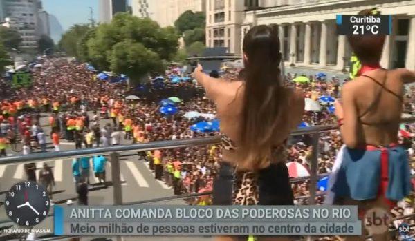 Anitta no Bloco das Poderosas 2019