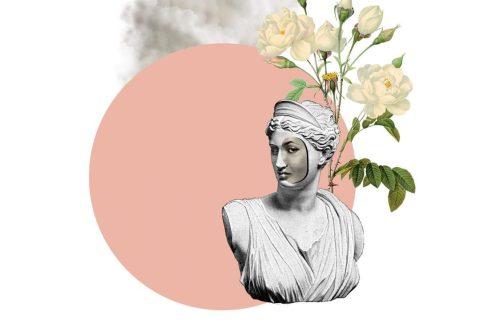 Ilustração de uma estatua feminina