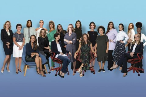 Montagem com as 20 mulheres mais poderosas do Brasil
