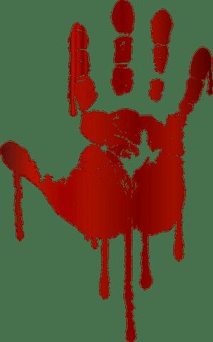 Imagem ilustrativa de uma mão com sangue