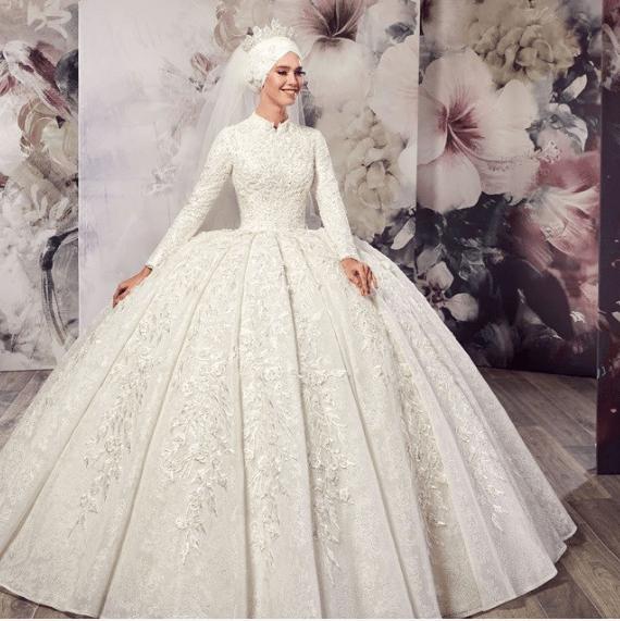 1d935b3f18c59 Aysira 2019 Prenses Model Tesettür Gelinlikler – Gelinlik.co