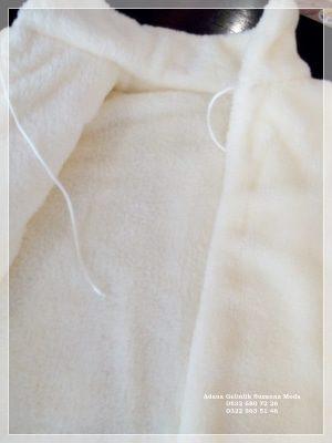 Gelin Ceketi Gelin imitasyon peluş Kürkü hakim yaka uzun kollu ip bağlamalı çift taraflı kullanma özelliği içi dışı yumuşacık