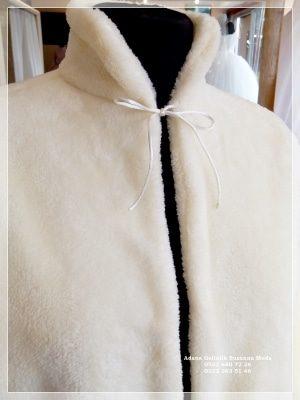 Gelin Ceketi Gelin imitasyon peluş Kürkü hakim yaka