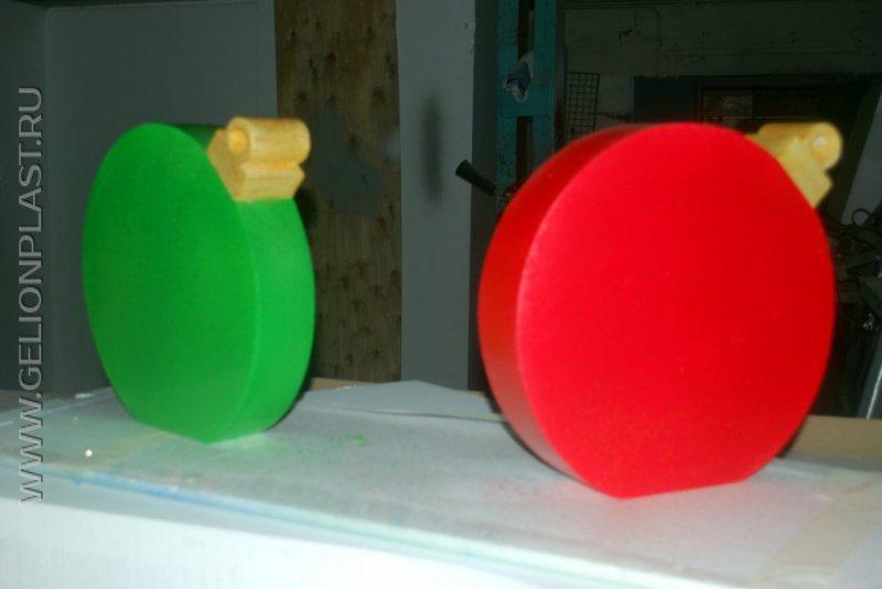 Новогодние игрушки из пенопласта - фото наших работ
