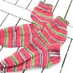 Socken stricken mit Austermann Step:  Die Melonensocken sind fertig!