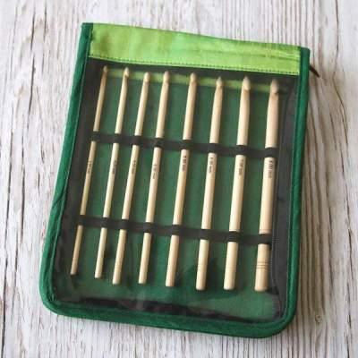 KnitPro Bamboo Haekelnadelset mit acht Nadeln