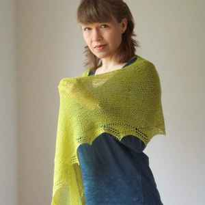 Green Light Shawl von Strickmich
