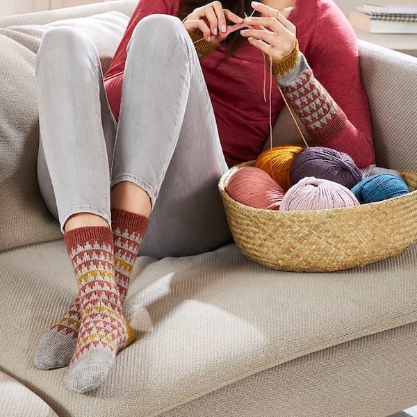 Socken mit Jacquardmuster Strickkit mit Regia Premium Yak