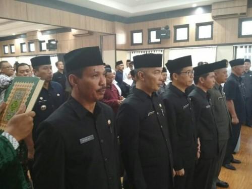 Lima Pejabat Eselon II Hasil Open Bidding Resmi Dilantik Walikota Tasikmalaya