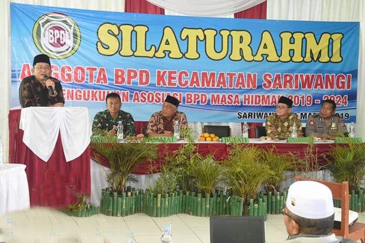 Bupati Tasikmalaya Hadir Pada AcaraSilaturahmi Anggota BPD Kecamatan Sariwangi dan Pengukuhan Asosiasi BPD