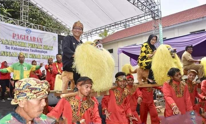 Pagelaran Pasanggiri Pencak Silat se-Kabupaten Tasikmalaya Dibuka Oleh Bupati
