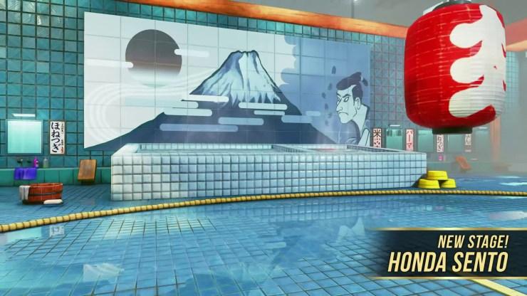 escenario honda street fighter II Capcom Arcade Stadium cambios sol naciente
