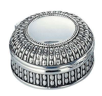 Round Antiqued Jewelry Box