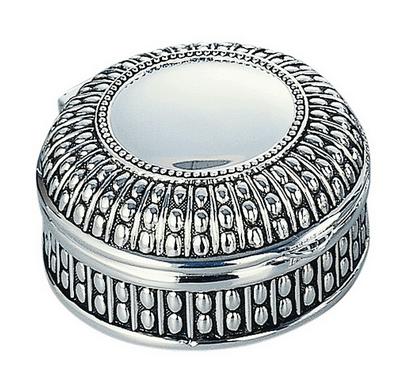 Round Antiqued Jewelry Box