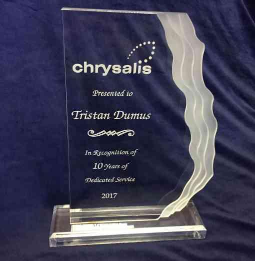 Ridge Line Acrylic Trophy