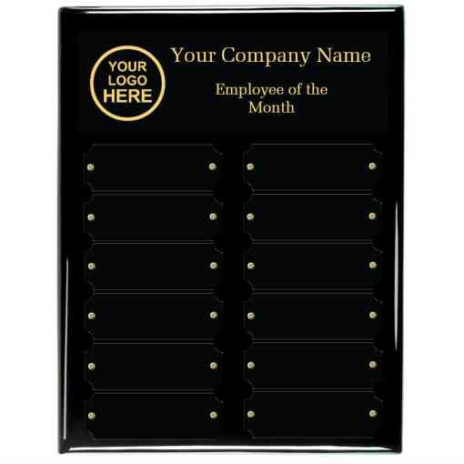 Black Piano Finish Employee of the month Plaque