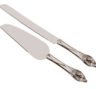 """Embrace"" Knife and Server Set"