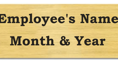 Gold Plate for Employee of the month Perpetual Plaque