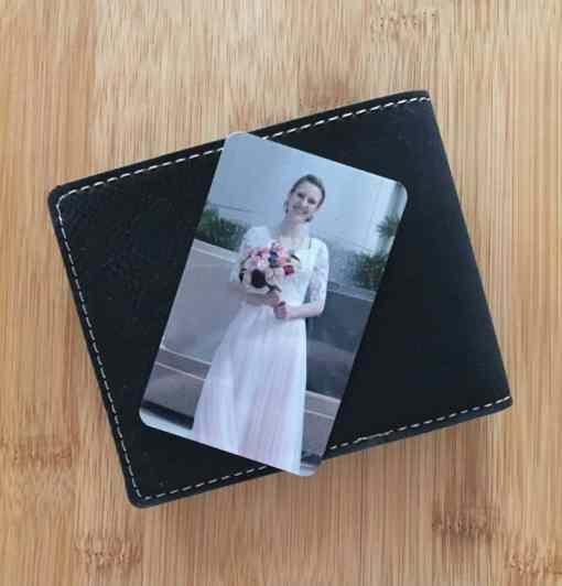Metal Wallet Photo Card