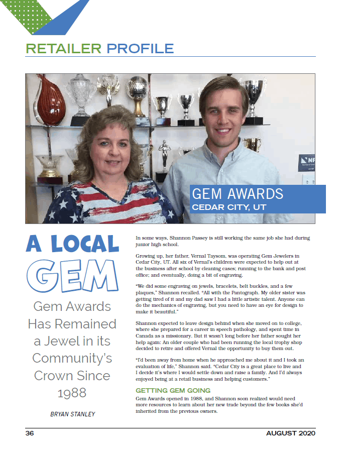 Jacob Passey & Shannon Passey Gem Awards